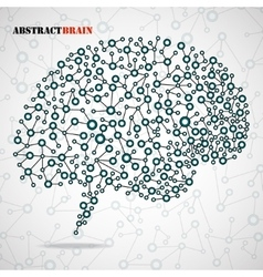 Abstract brain human vector