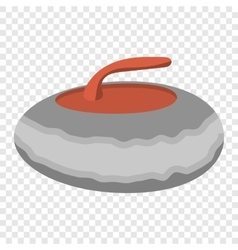 Curling stone cartoon vector