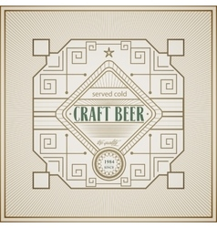 Good craft beer brewery vintage label vector
