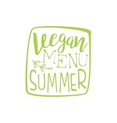 Vegan menu calligraphic cafe board vector