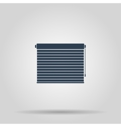 Louvers rolls sign icon window blinds or jalousie vector