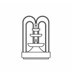 Fountain icon outline style vector