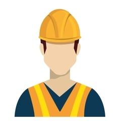 Avatar constrcution man and helmet graphic vector