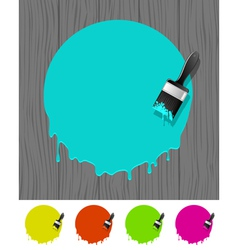 Background with paintbrush vector image