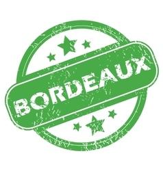 Bordeaux green stamp vector