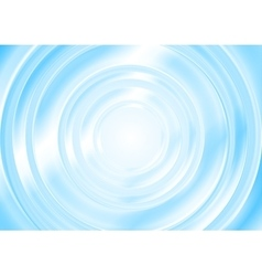 Bright blue abstract smooth circle background vector image vector image