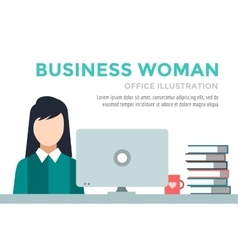 Business woman silhouette businesswoman work vector