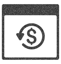 Chargeback calendar page grainy texture icon vector