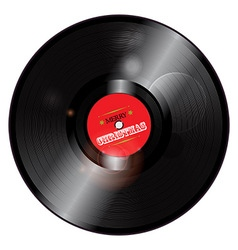 Christmas vinyl record vector