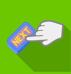 Click the button next e-commerce single icon in vector
