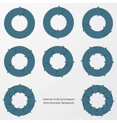 collection of blue color arrow circle flows vector image