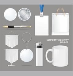 Corporate identity empty blank white set vector