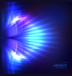 Cosmic shining blue background vector