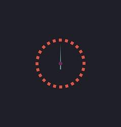 dial clock computer symbol vector image vector image