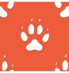 Dog footprint seamless pattern vector