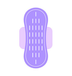Feminine pad sanitary napkin flat color icon of vector