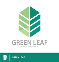 Green condominium vector image
