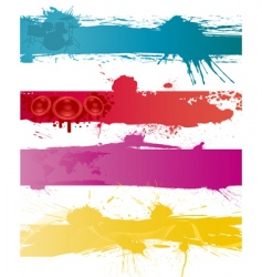 grunge backgrounds set vector image vector image