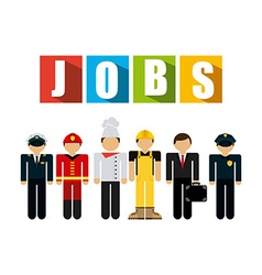 jobs concept vector image
