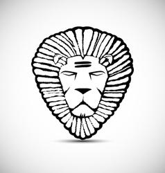 Lion logo design rastafarian concept vector
