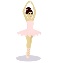 Little girl ballet dancer vector