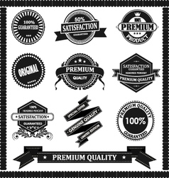 original label with black vector image vector image