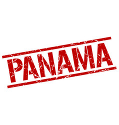 Panama red square stamp vector