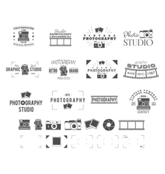 Photography logo templates set use for photo vector