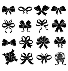 Ribbon knot icons set vector image