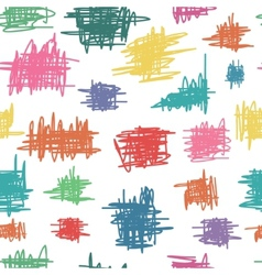 Seamless pattern with sketch vector image vector image
