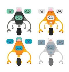 Set of funny robots vector