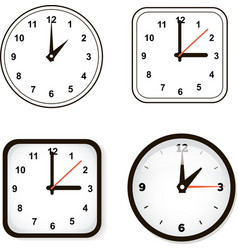 Set of wall clock Watch and circle vector image vector image