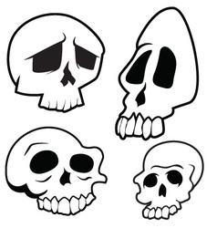 Skulls 8 vector image vector image