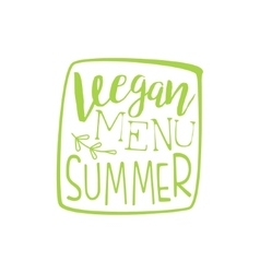Vegan menu calligraphic cafe board vector