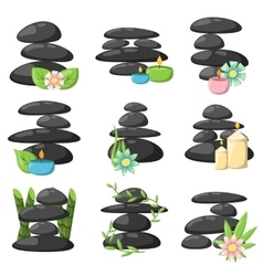 Relax spa stones set vector image