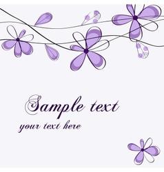 floral card design vector image