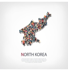 People map country north korea vector
