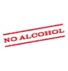 No alcohol watermark stamp vector