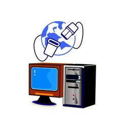 Computer internet vector