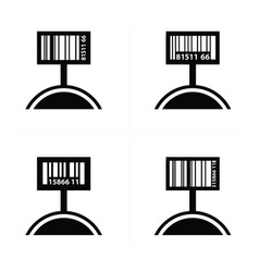 Price tag set and barcode design vector