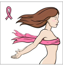 Concept image of health breast cancer awareness vector