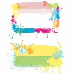Grunge paint splatter vector