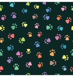 Seamless patterns with prints of animals vector