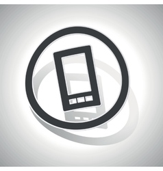 Curved smartphone sign icon vector