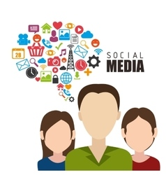 Social media and entertainment graphic design vector
