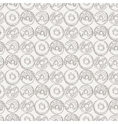 Muffins seamless pattern cakes sweets vector