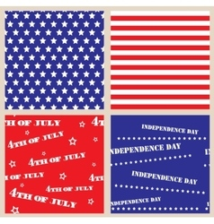 Set of seamless textures with usa independence day vector