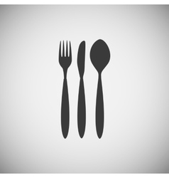 Cutlery spoon fork and knife icon vector