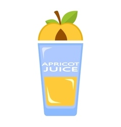 Apricot juice vector
