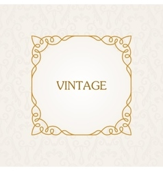 Calligraphic frame vintage elegant text vector